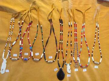 Selling: Native Innu necklace - Bones and Beads