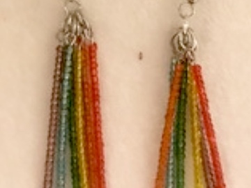Selling with online payment: Rainbow Pride Dangle Earrings