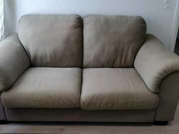 Annetaan: Comfortable beige sofa