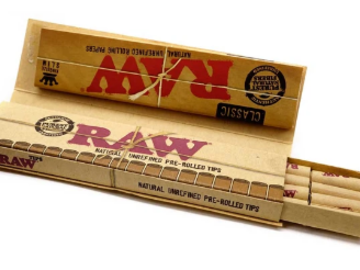 Post Products: RAW Connoisseur King Size with Pre-rolled Tips