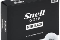 SOLD OUT(売り切れ): Snell ゴルフボールMTB BLACK(白)1ダース