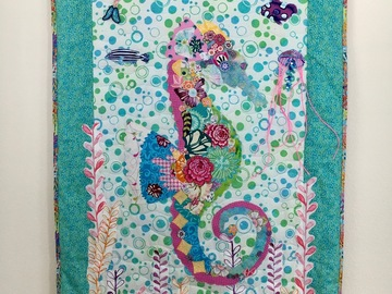 Selling with online payment: Seahorse Quilt with Bead Embriodery