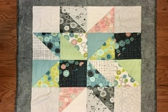 Selling with online payment: Handmade Modern Baby Quilt, Vintage Stars