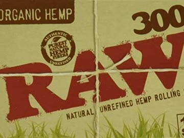 Post Now: RAW Organic 300 1.25 1 1/4 Size Rolling Papers 1 Pack = 300 Leave