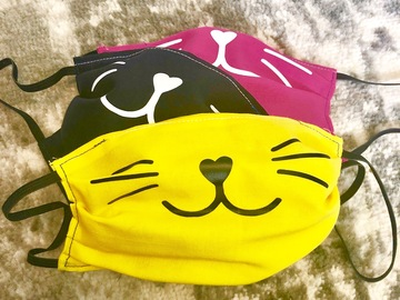Selling with online payment: Kitty Cat Face Fabric Mask