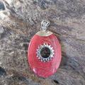 Vente au détail: Pendentif argent sterling 925 et corail rouge