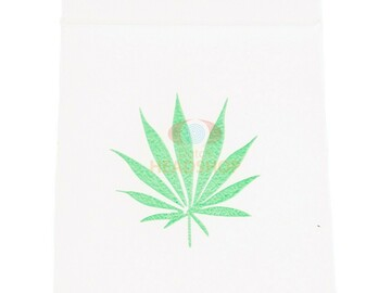 Post Products:  Zip Lock Bags 55x65 transparant with weed leaf (0.07mm)