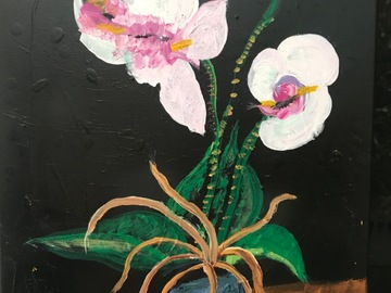 Selling with online payment: Orchid Painting