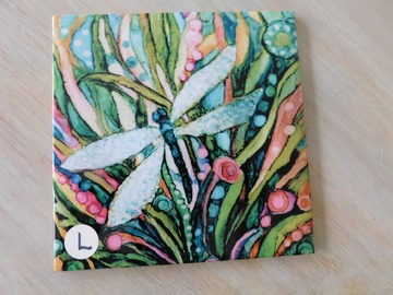 Selling with online payment: Whimsical Dragon Fly Ceramic Tiles