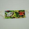 Vente au détail: Masque barrière vert horloge et fleur T:H/F/Ado