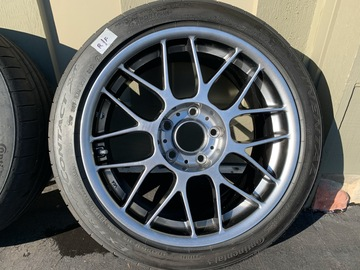 "Selling: Apex ARC- 8, 17 x 8.5"" ET 40/ Continental Extreme Sport tires"