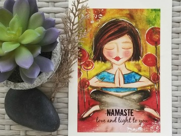 Selling with online payment: Set of 3 Art Cards, Yoga