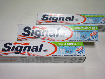 Vente: Lot de 3 dentifrices SIGNAL Protection caries