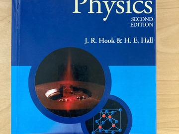 Myydään: Hook & Hall: Solid State Physics, Second Edition
