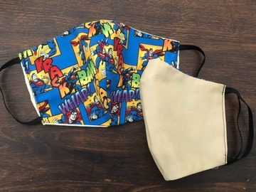 Selling with online payment: Superman Handmade Cotton Face Mask