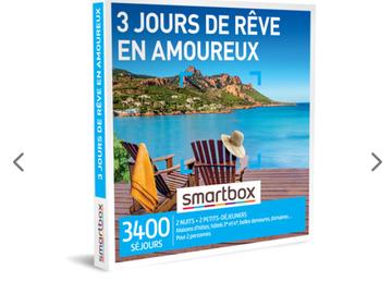 """Vente: Smartbox """"3 jours de rêve en amoureux"""" (100€)"""
