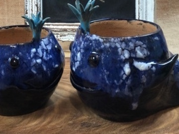 Selling with online payment: Blue Whale Planter