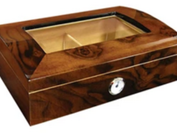 Post Products: Addison Glass Top Humidor 40 Cigar Count