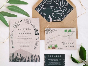Productos: Outdoors Wedding Invitation - 100% Recycled