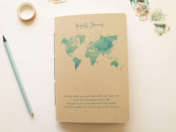 Productos: Personalised Watercolour Travel Journal - 100% Recycled