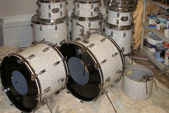 Selling with online payment: Rogers Fullerton White Pearl Drums