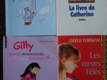 Vente: Lot de 4 livres pour jeunes ados