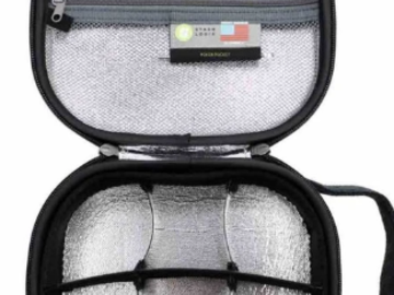 Post Now: STASHLOGIX Silverton Smell Proof and Lockable Travel Case - Mediu