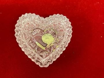 Liquidation/Wholesale Lot: 72 pcs- Lead Crystal Trinket /Jewelry Box-- $1.39 pcs