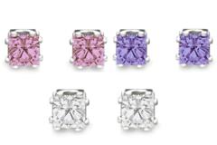 Buy Now: 2 C.T.W. Russian Princess Cut Cubic Zirconia Earrings 25 pair