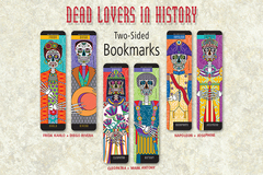 Selling with online payment: Set of 3 Bookmarks-Dead Lovers, Frida, Diego