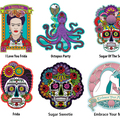 Selling with online payment: Select 3 Stickers,  Day of the Dead