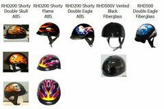 Buy Now: LOT OF 9 DOT SHORTY/ MOTORCYCLE HELMETS-NIB