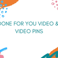 Offering online services: Pinterest Pin Video & 3 Pins