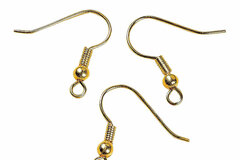 Buy Now: 1,000 pcs 14 kt gold overlay ball coil earring hooks , ear wire