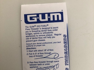 Artikel aangeboden: Gum Brugnaalden per pakje 5 stuks