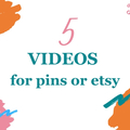Offering online services: 5 Done For You Videos for Pins