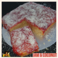 For Sale: Jam & Coconut Sponge