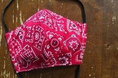 Selling with online payment: Red Bandana Face Mask