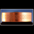 Selling with online payment: Artisan Copper Cuff Bracelet with Celtic Knot Pattern