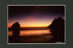 Selling with online payment: Cape Kiwanda, Haystack Rock, Pacific City Pink Swirl Sunset.