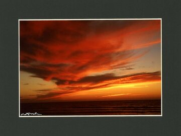 Selling with online payment: Red Fall Sunset, best ever, Oregon Coast