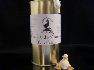 Vente avec paiement en ligne: Confit de canard - 2 Cuisses -765 gr
