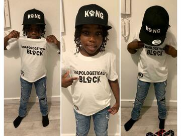 For Sale: DTD Black Apparel Kids Unapologetically Black Tshirt