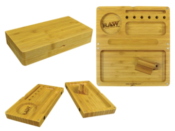 Post Now:  RAW Bamboo Backflip Magnetic Rolling Tray