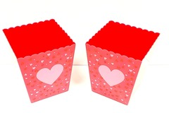 Buy Now: Multi-Purpose Red Plastic Popcorn Containers With a heart on them