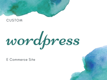 Offering online services: Custom Wordpress Website