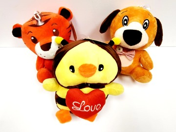 Buy Now: Plush Stuffed Bee, Tiger & Dog Toy – 6 Inches