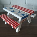 Selling with online payment: Custom Painted Squirrel Picnic Table Feeder