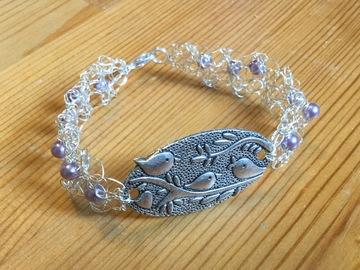 Selling with online payment: Wire Crochet Bracelet with Charm