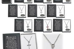 Buy Now: 25 pieces Swarovski Crystal Cross Necklaces in Bible Gift Box